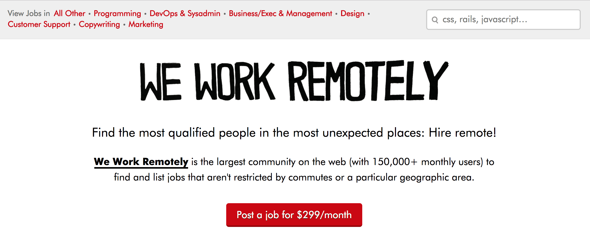 how to find remote work, remote work job board, freelancing job board, we work remotely