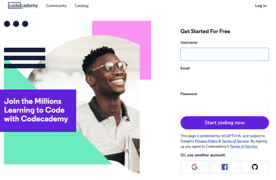 Learn to code for free with Codecademy