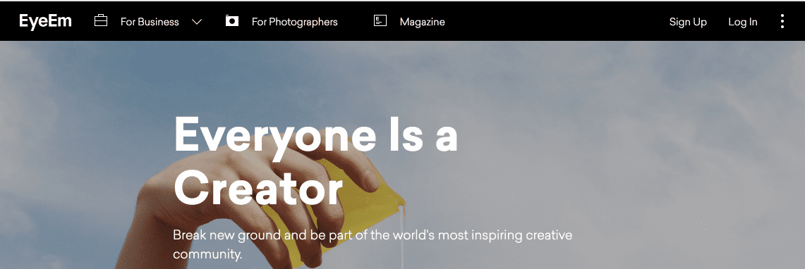 Sell your photography with Eye em