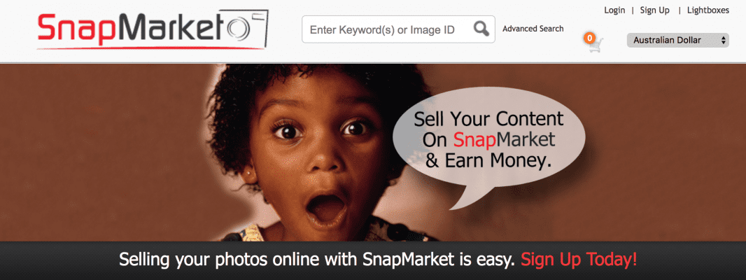 Sell photography online with snapmarket