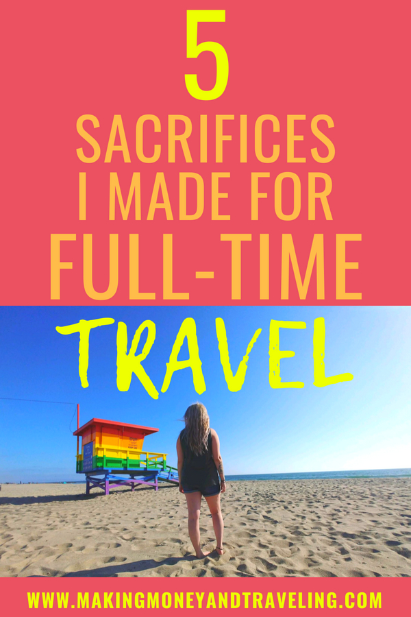 A life of full-time travel is also, in many ways, a life of sacrifice. Read on to learn the 5 life luxuries and creature comforts I gave up to live a life of full-time travel! #rvtravel #rvlife #fulltimerv #fulltimervlife #goRVing #fulltimetravel #travel
