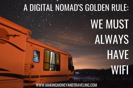 A digital nomad must always have wifi! #fulltimetravel #rvtravel #rvlife #fulltimerv